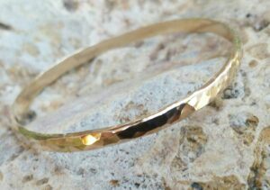 Gold Bangle Stacking Bracelet