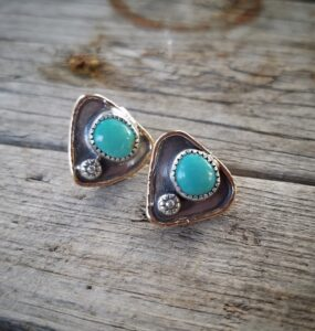 Green Turquoise Studs