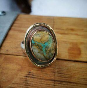 Royston Ribbon Turquoise Ring