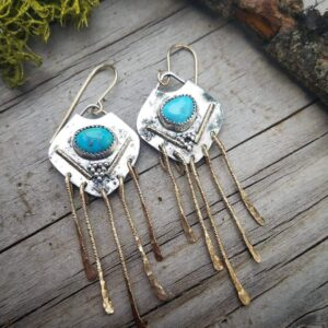 Turquoise Wind Catcher Earrings